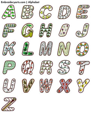 Alphabet Monogram Set