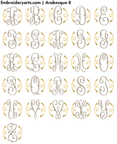 Arabesque Monogram Set 8