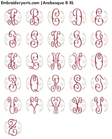 Arabesque XL Monogram Set 8