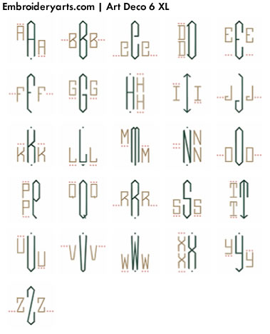 Art Deco XL Monogram Set 6
