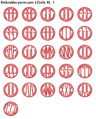 Circle XL Monogram Set 1