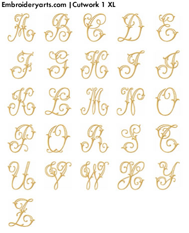 Cutwork XL Monogram Set 1