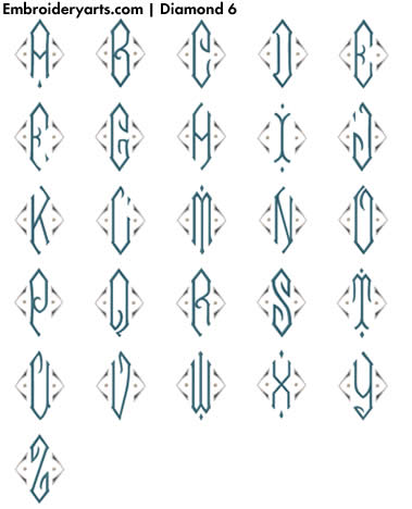 Diamond Monogram Set 6