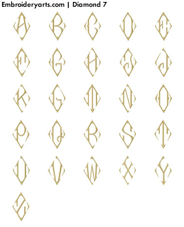 Diamond Monogram Set 7