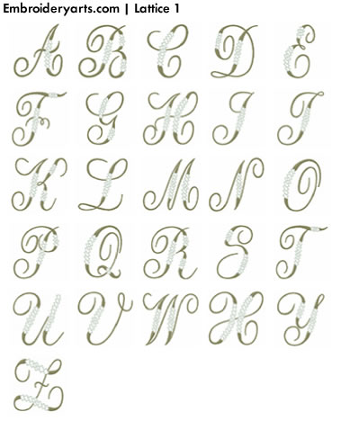Lattice Monogram Set 1