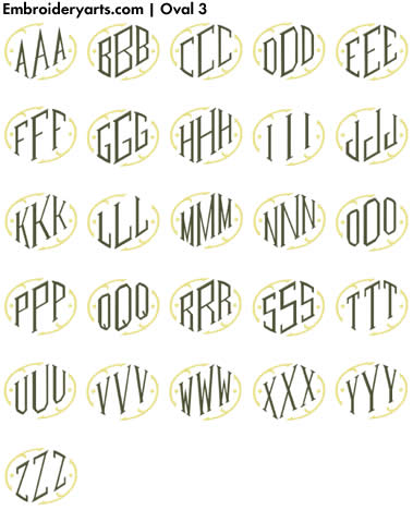 Oval Monogram Set 3