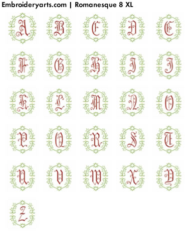 Romanesque XL Monogram Set 8