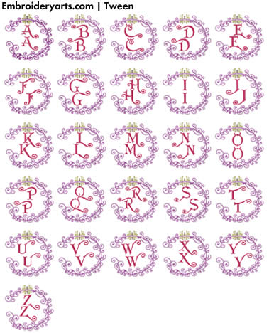 Tween Monogram Set
