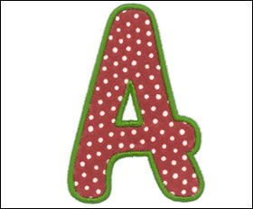 ALPHABET Embroidery Designs Free Embroidery Design