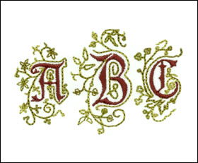 Arabesque Monogram Set 2