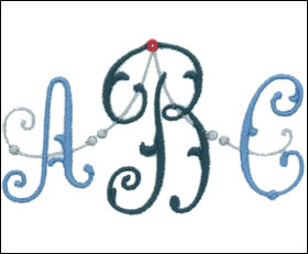 Arabesque Monogram Set 12