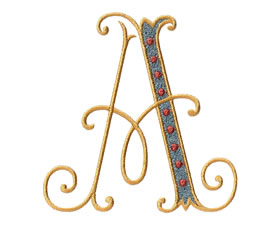 Arabesque Monogram Set 13