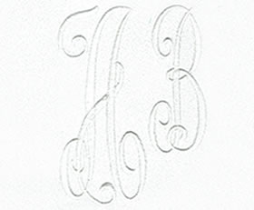 Arabesque Monogram Set 14