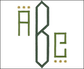 Art Deco Monogram Set 6