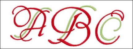 Art Nouveau Monogram Set 3