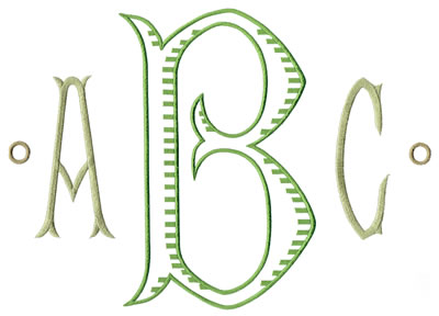 Baroque XL Monogram Set 1