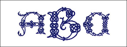 Celtic Monogram Set
