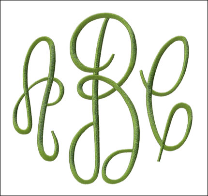 Embroidery Arts Monogram Styles Empire Xl