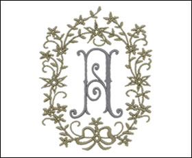 Embroidery Arts | Monogram Styles | Romanesque 2