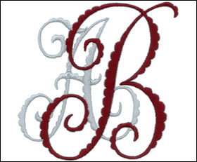 Machine embroidery fonts, alphabets & monograms by Anna Bove